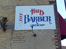 Hub Barbershop Sign